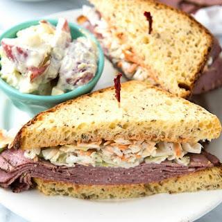 Brooklyn Avenue Sandwich {Pastrami, Cole Slaw, Russian Dressing & Rye}.