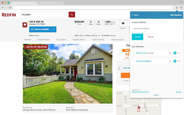 HomeAhead Wishlist - Find homes together