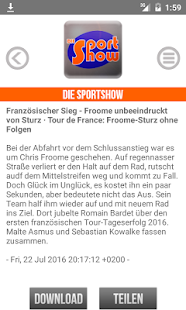 meinsportradio.de – Miniaturansicht des Screenshots