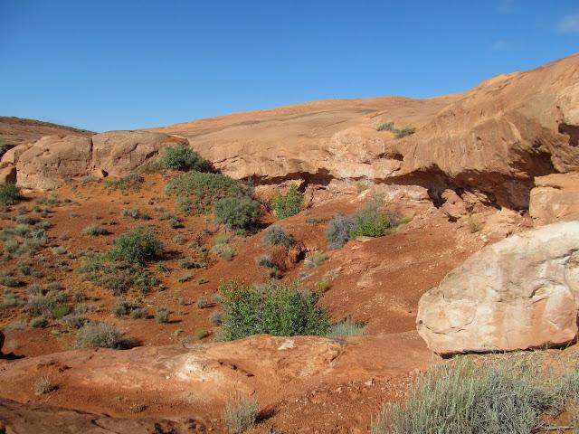 Overhanging cliffs