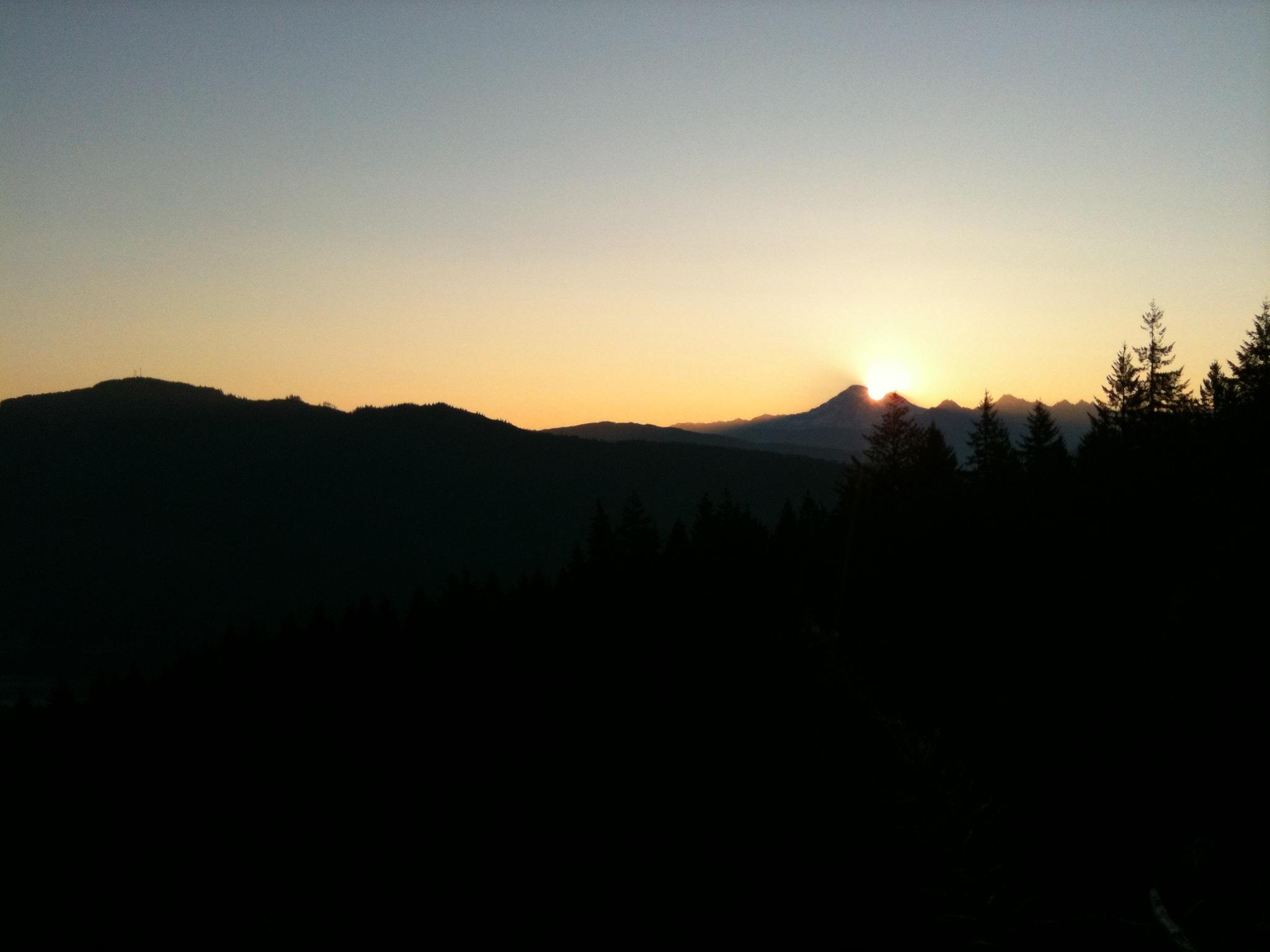 Photo: Sunrise above Mt. Baker, August 2010