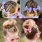 Tải Children's hairstyles for short hair step by step APK