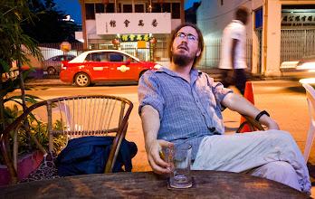 Photo: Un verre (vide) à GeorgeTown