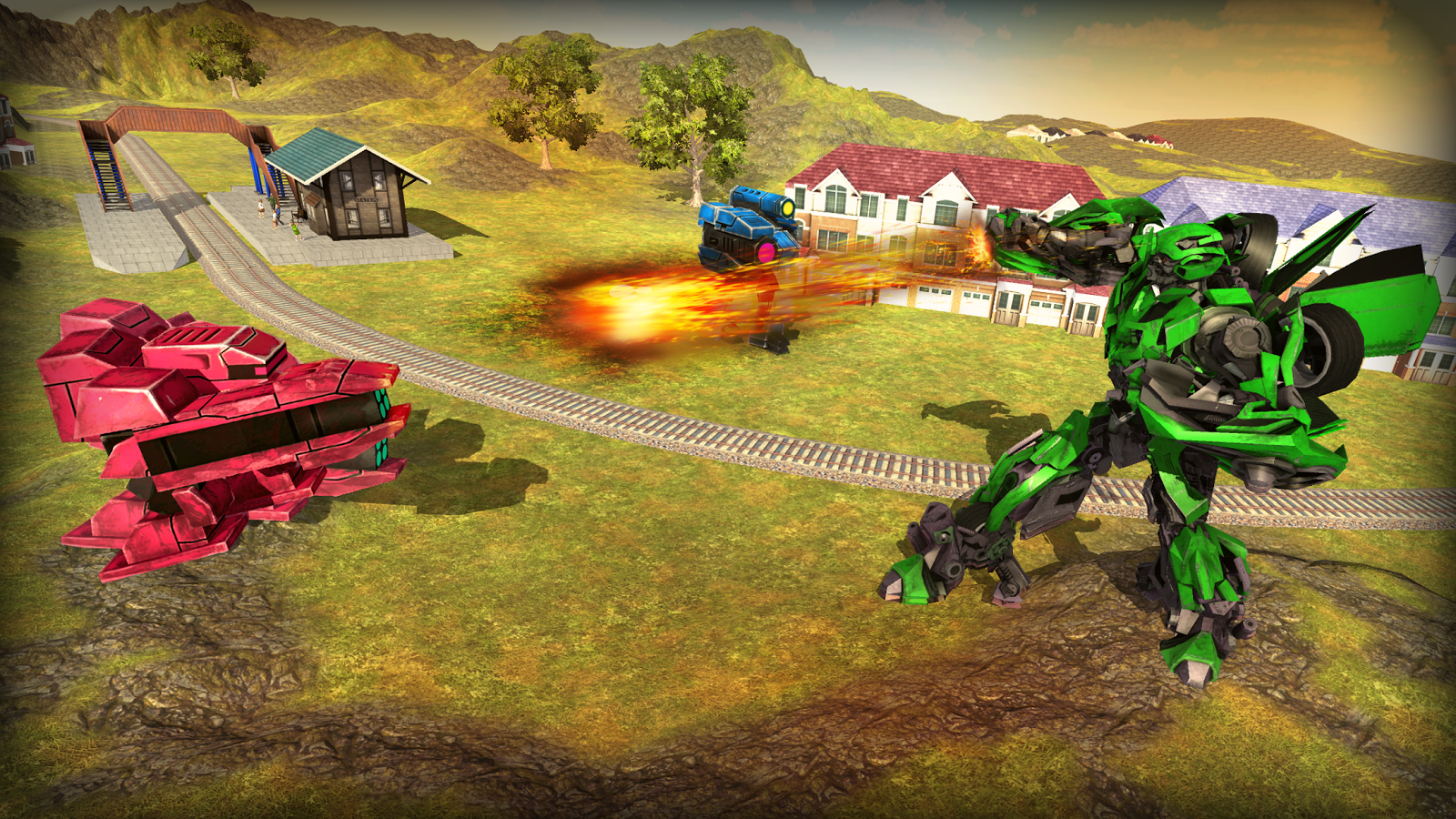 Future Subway Euro Train Transformation Robot War- screenshot