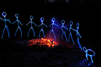 Photo: Last embers - Light painting by Christopher Hibbert, french photographer and light painter. Further information: http://www.christopher-hibbert.com