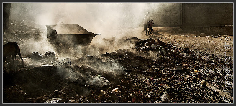 Photo: Waste incineration on the streets of Port au Prince  #haiti #streetphotography #shootthestreet
