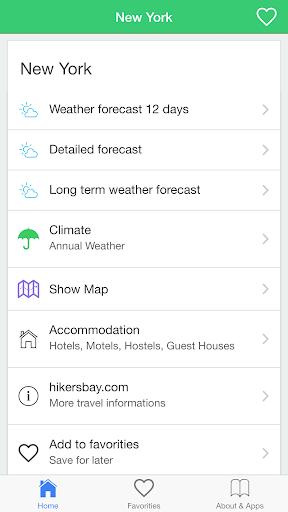 纽约州气象预报,引导旅客。