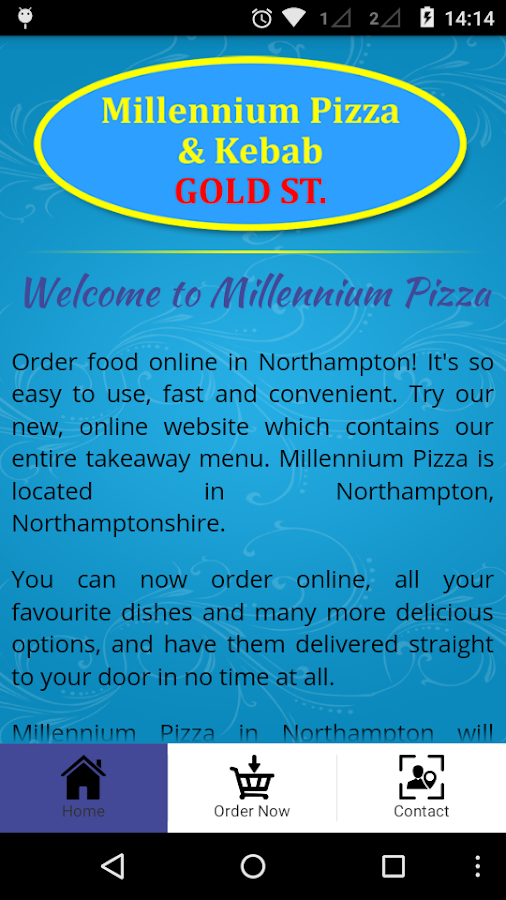 Millennium Pizza- screenshot