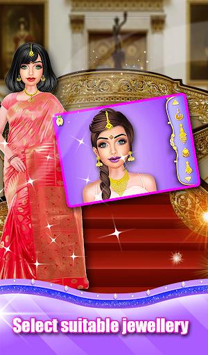 Indian Wedding Saree Designs Fashion Makeup Salon  screenshots 4