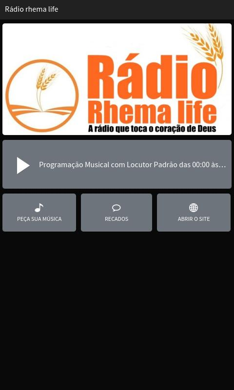 Rádio Rhema Life- screenshot
