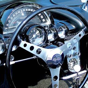 Corvette Dash by Susan Englert - Transportation Automobiles ( interior, dash, corvette, wheel, chevrolet, steering, dashboard, chevy,  )