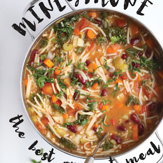 Healthy + Easy Minestrone Soup