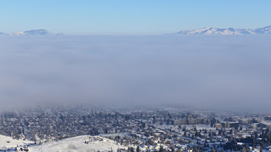 Photo: View of Helena from south hills the day after our Stemple to Flesher hike. The inversion persists!