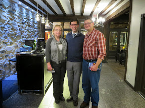 Photo: Us with Paul, our very excellent hotelier