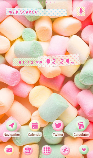 無料个人化Appの★무료 꾸미기테마★Pastel Marshmallows|記事Game