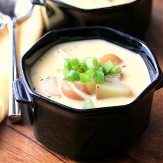 Cheesy Potato Soup #LittlePotatoes