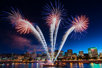 Photo: Boom!  Last night I met up with +Jeffrey Yenand +Julie Wardto catch the closing fireworks for the Portland Rose Festival. It was a long wait for a five minute show but I was super happy to get this one shot. When I set up I figured I'd be masking and layering different bursts into a shot of the city I took after the show but then I came across this shot. No comping, no layering, just a little tweek in LR and ta-da!  #portlandia  #rosefestival