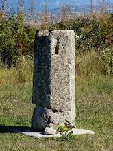Photo: Byllis, Hexagonal column supporting the Stoa
