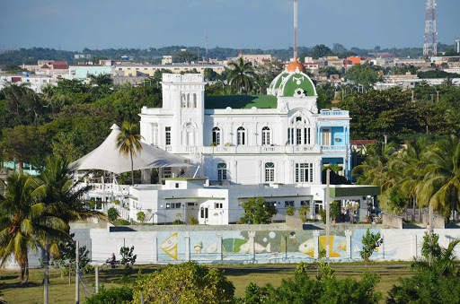 Views from the 8th floor of the Hotel Jagua in Cienfuegos, Cuba.