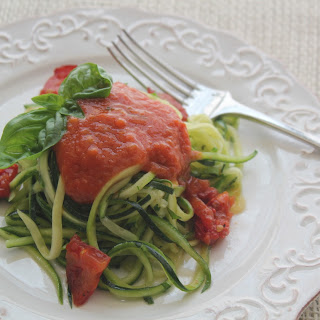 "Zucchini ""Linguine"" with Oven Dried Tomatoes Recipe"