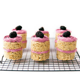 Earl Grey & Roasted Blackberry Petit Fours.