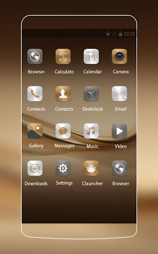 Theme for Huawei P8 & P10 Gold Wallpaper Icon Pack  screenshots 2