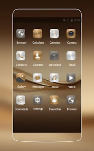 Theme for Huawei P9 HD: Dark Gold - náhled