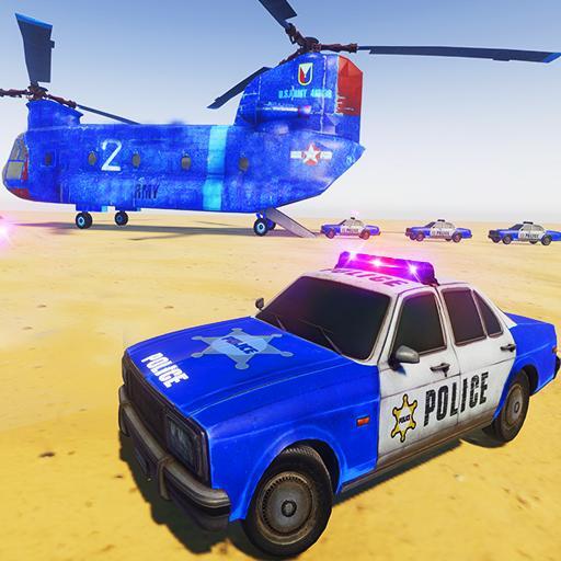 US Police Transporter Truck Plane Parker