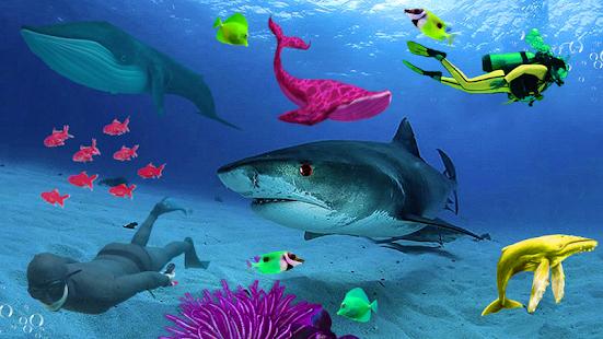 Blue whale Simulator : US Sea Blue Whale Game 3D - náhled