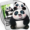 Cute panda keyboard icon