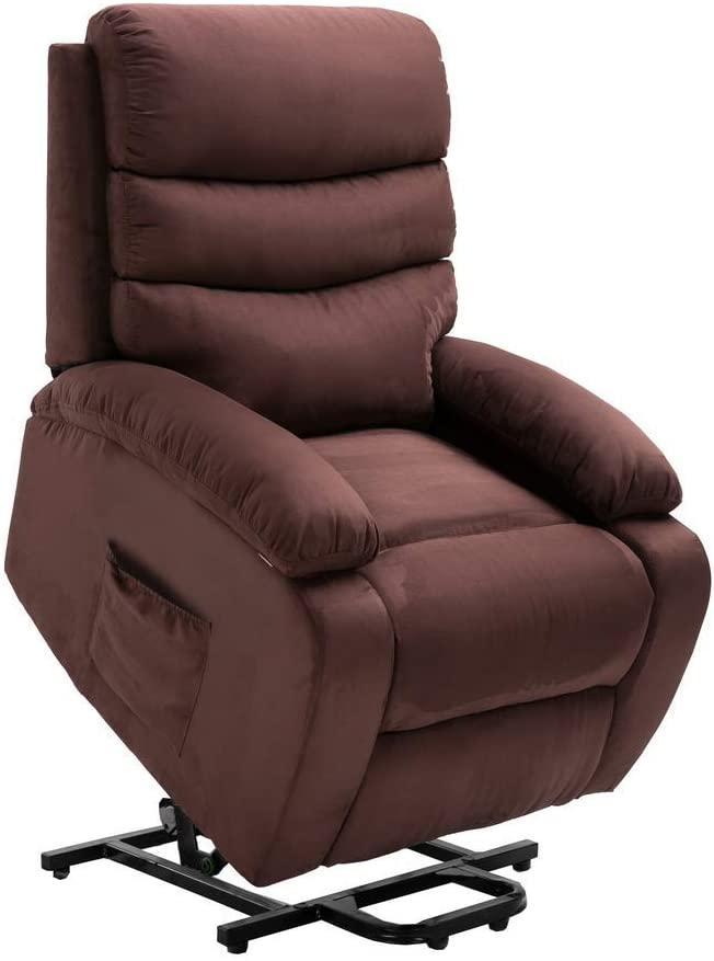 homegear microfiber power lift electric recliner chair