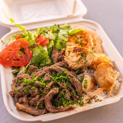 Chicken & Beef Shawarma Plate