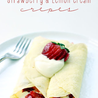 Strawberry & Lemon Cream Crepes