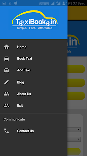 TaxiBook.in- screenshot thumbnail