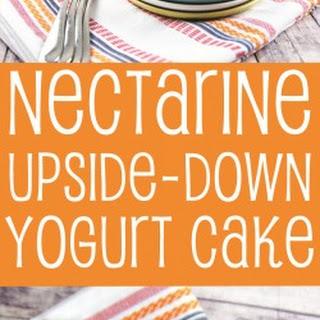 Nectarine Upside-Down Yogurt Cake.