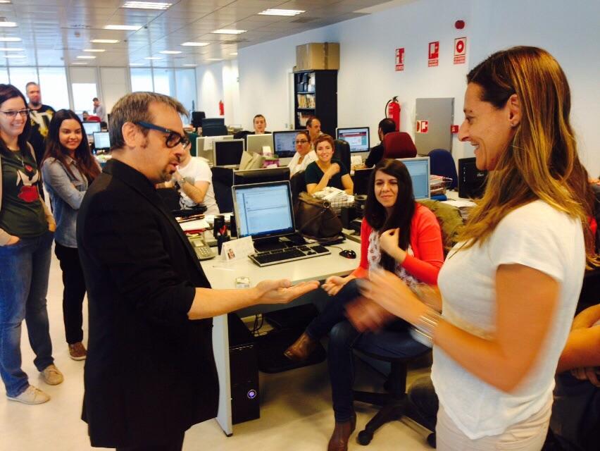 show para empresas en sus propias oficinas en Madrid