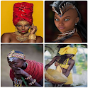 African fashion style. Fashion Africa. icon