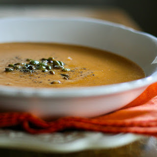 Roasted Pumpkin and Tomato Soup.