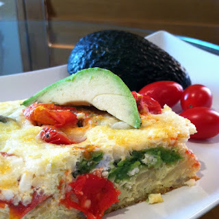 Avocado and Fresh Tomato Breakfast Casserole