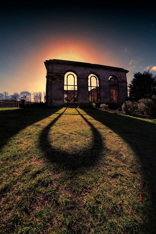 The Old Orangery by Phil Robson - Buildings & Architecture Public & Historical ( sunset, gibside, national trust, orangery )