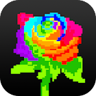 Flower Color By Number: Pixel Art Flower icon