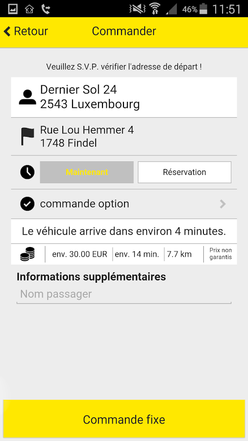 Colux Taxis Luxembourg- screenshot