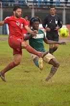 Photo: Mohamed 'Poborsky' Bangura [Leone Stars Vs. Equatorial Guinea, 7 Sept 2013 (Pic: Darren McKinstry)]