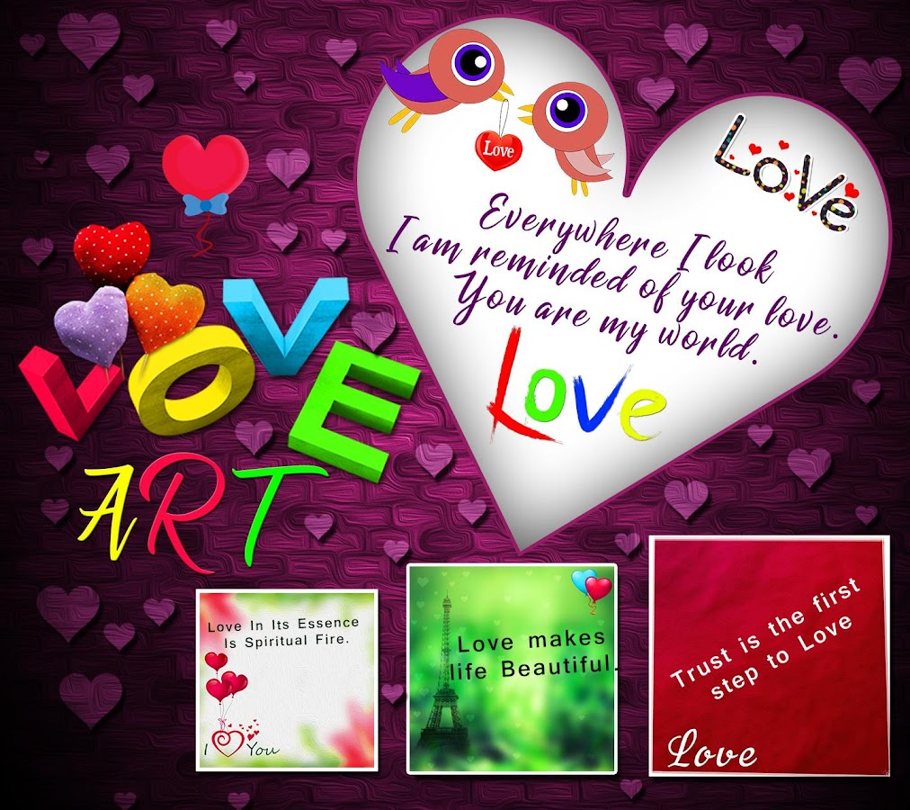 Photo Editor With Love Quotes Love Art Photo Editor  Love Shayari Quotes Sms  Android Apps