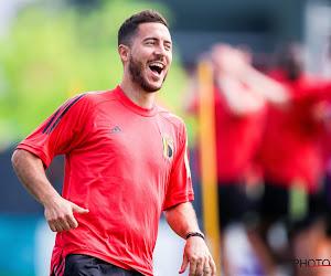 """De 'oude' Hazard staat weer grappend en grollend op het oefenveld, dat belooft! """"Als ik schrik zou hebben, speel ik niet"""""""