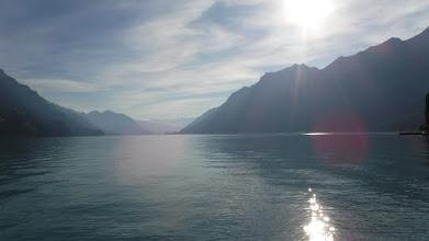 Photo: Brienz-tó a naplementében