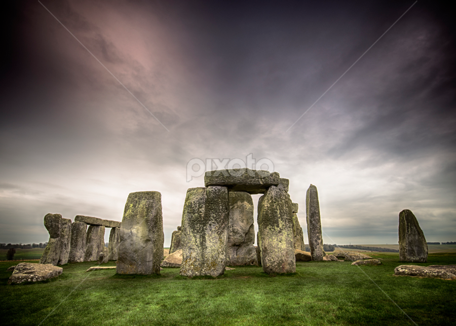 Stonehenge by Mike Woodford - Travel Locations Landmarks ( stonehenge, ancient, permanent, green, solstice, moss, stone, circle, worship, permanence, everlasting, lichen )