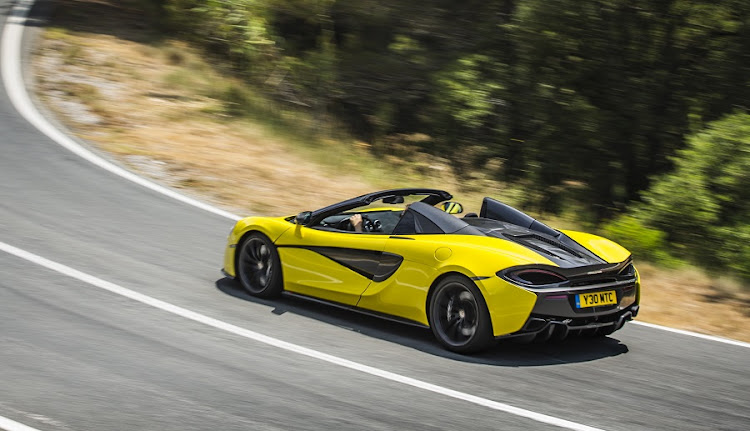 That folding hard-top only adds 46kg to the weight over the coupe. Picture: MCLAREN AUTOMOTIVE
