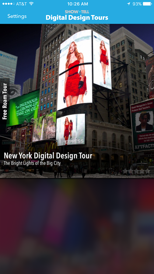 Show+Tell Digital Design Tours- screenshot