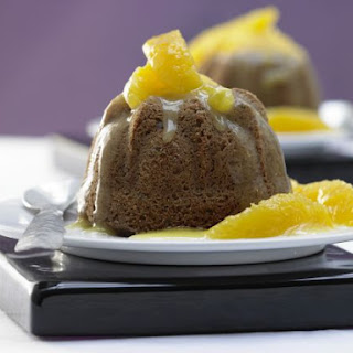 Date Pudding Cakes on Orange Compote